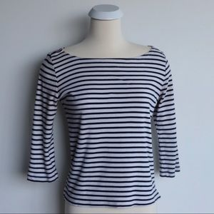 Stripped Boatneck Top